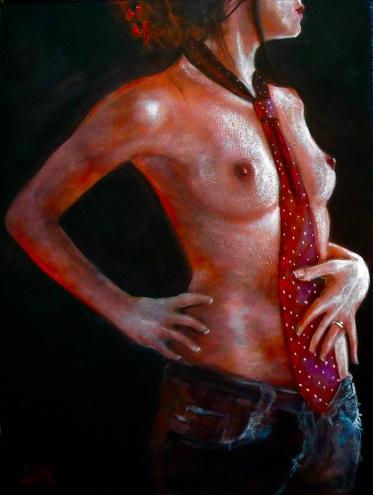 His Tie 2009, past lives, master painter, Kinsey Institute, contrast, cadmium
