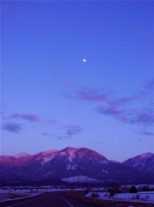 Montana twilight drive from Big Fork